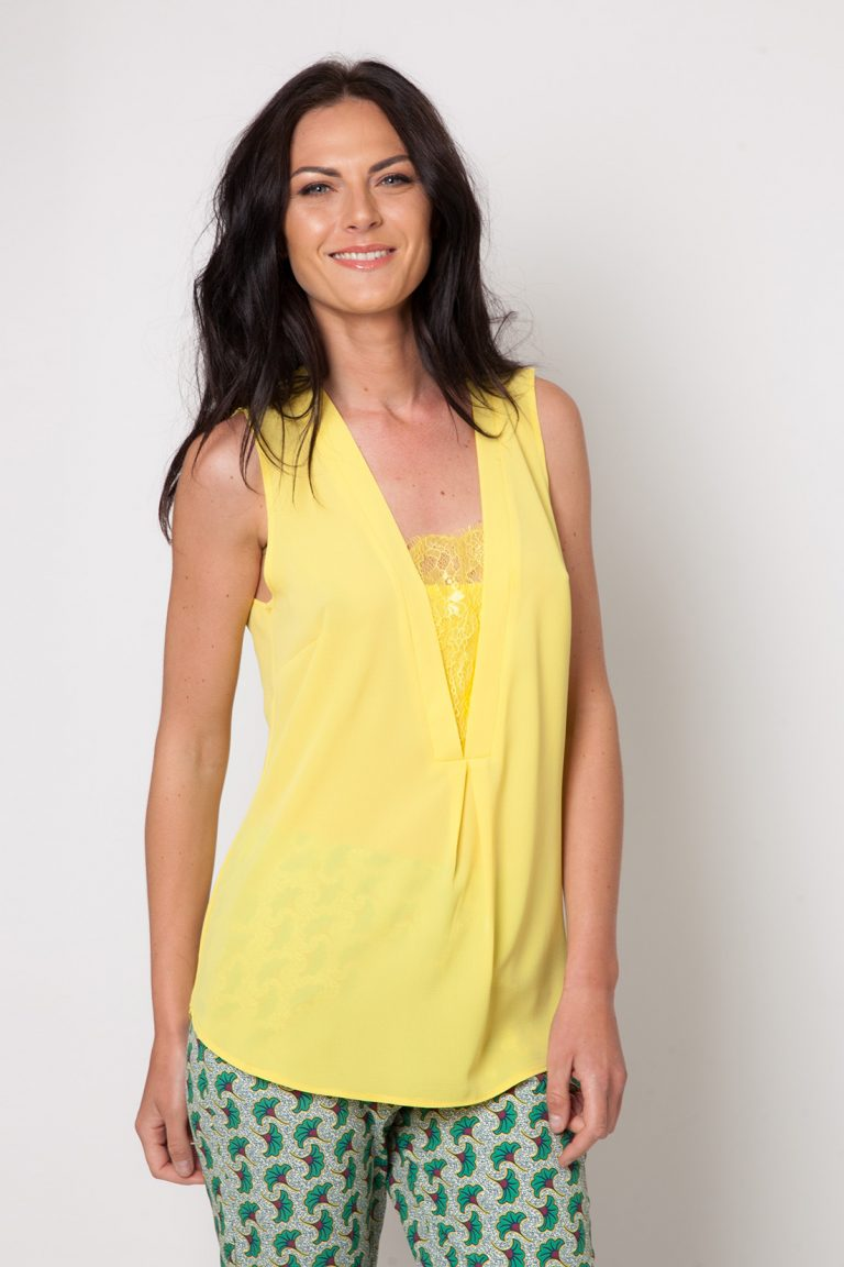 emablues-top-cherry-uni-jaune